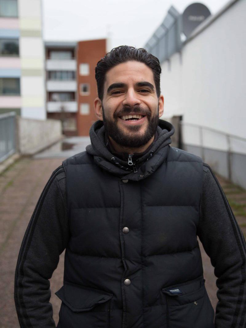 Portrait of Nyhetsbyrån member Mustafa Zatara, photo by Ekstra