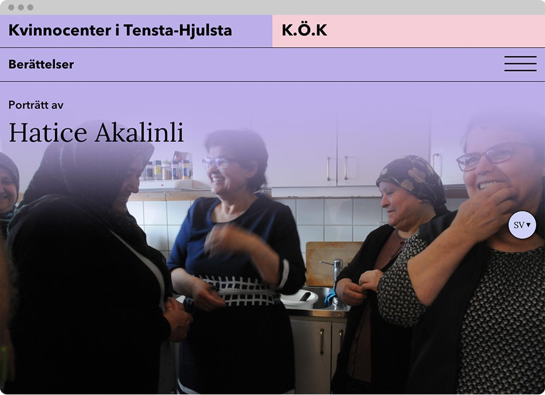 Kvinnocenter i Tensta-Hjulsta and K.Ö.K website